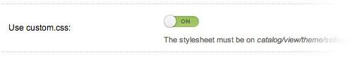 Custom Stylesheet